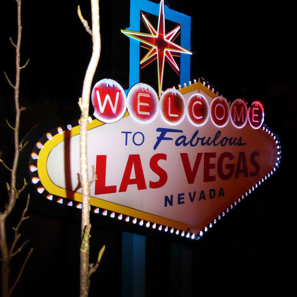 Panneau LED welcome to Las Vegas