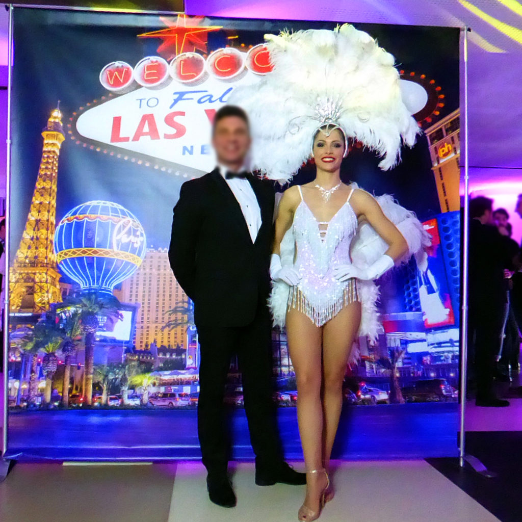 Photocall thème casino en location