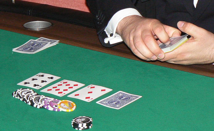 Table de jeu Poker Texas Hold'em