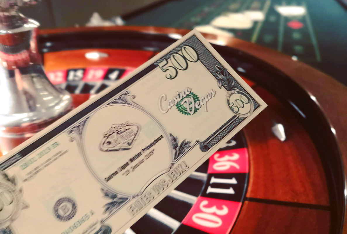 Billets Casino personnalisés pour soirée casino BNP