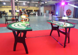 Animation casino inauguration locaux DistriCom tables de jeux