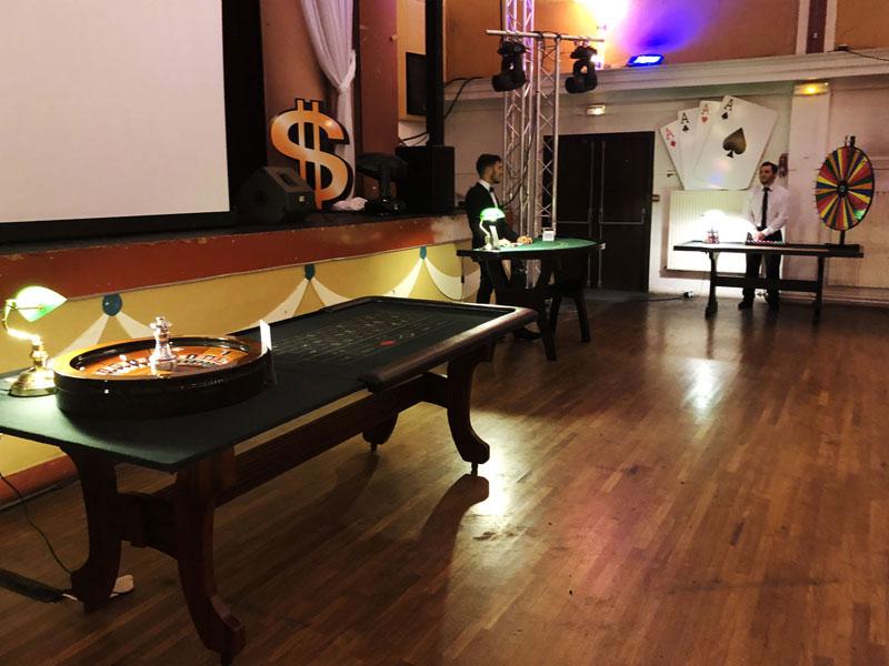 Location Soirée casino table jeux