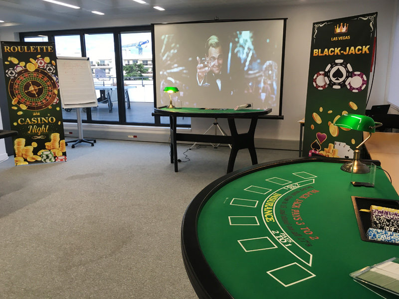 Animation tables casino INTM Levallois