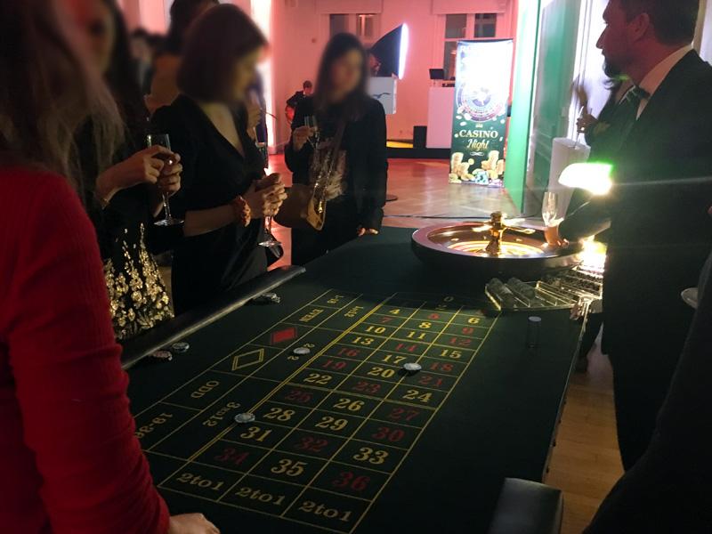 Soirée casino entreprise au pavillon Presbourg Paris