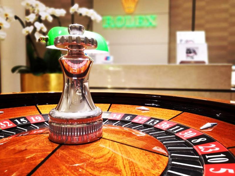 Roulette casino animation pour Rolex