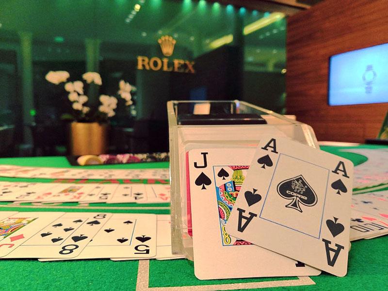 Soirée poker animation pour Rolex